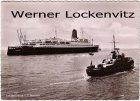 Ansichtskarte Jungfernreise T.S. Bremen NDL Bremen mit Schlepper Bremerhaven