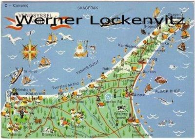 Ansichtskarte Dänemark Danmark Vendsyssel-Nord Landkarte map