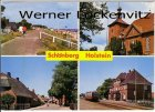 Ansichtskarte Schönberg Holstein Bahnhof Kirche Ortsstraße