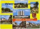 Ansichtskarte Heide in Holstein Friedrichstraße Stadtbrücke Markt Osterweide Kreisverwaltung