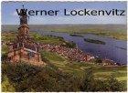 Ansichtskarte Rüdesheim am Rhein National Denkmal mit Blick auf die Stadt