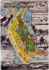 Ansichtskarte Amrum Insel Landkarte Mühle Trachten mehrfach