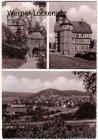Ansichtskarte Rauschenberg Kreis Marburg mehrfach Kirche Rathaus Panorama