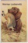 Ansichtskarte Jagd Hund mit Hasen im Maul Gemälde