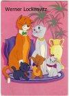 Ansichtskarte Aristocats 3 Katzenfamilie Comic