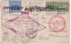 Ansichtskarte Luftschiff LZ 127 Graf Zeppelin Südamerikafahrt nach Plauen USA Briefmarken Sonderstempel