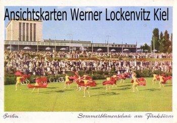 Ansichtskarte Berlin Sonnenblumenschau am Funkturm