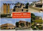 Ansichtskarte Niebüll Kreiskrankenhaus Hauptstraße Gymnasium Berufsschule