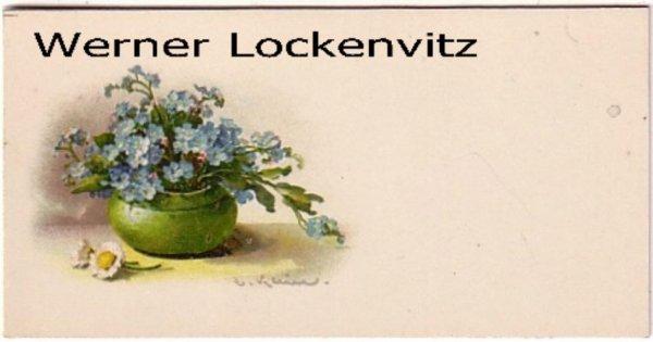Ansichtskarte Vergissmeinnicht Blumen Gemälde sign. C.  Klein Tischkarte