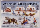Ansichtskarte Winterfreuden Winter joy Villeroy & Boch Porzellankarte china besondere Materialien