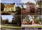 Ansichtskarte Hude Kirche Wassermühle Park
