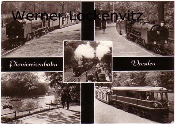 Ansichtskarte Dresden Pioniereisenbahn mehrfach