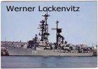 Ansichtskarte Bundeswehr Marine Lenkwaffen-Zerstörer Rommel D 187