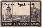 Ansichtskarte Erste Deutsche Luft-Post Mannheim Heidelberg mit Sonderstempel