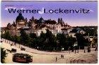 Alte Ansichtskarte Dresden Ausstellungspalast mit Straßenbahn