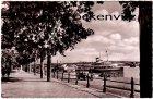 Ansichtskarte Mainz am Rhein Schiffsanlegeplatz mit Binnenschiff Dampfer
