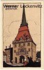 Ansichtskarte Rostock Steintor Künstler-Stein-Zeichnung