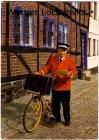 Ansichtskarte Dänemark Danmark Dansk Postbud Briefträger mit seinem Fahrrad