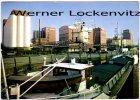 Ansichtskarte Elmshorn Hafen mit Binnenschiff