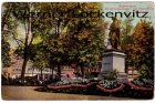 Ansichtskarte Niederlande Amsterdam Rembrandsplansoen met Standbeeld Rembrand