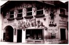 Ansichtskarte Mittenwald Bozener Markt 16. Jahrhundert Cafe-Konditorei