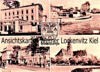 Ansichtskarte Wittenberge Bahnhof Hafen Bahnstraße Rathaus