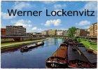 Ansichtskarte Saarbrücken Berliner Promenade mit Binnenschiffen