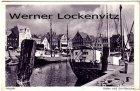 Ansichtskarte Husum Hafen und Schiffbrücke