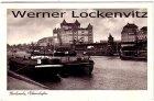 Ansichtskarte Karlsruhe Rheinhafen mit Binnenschiffen