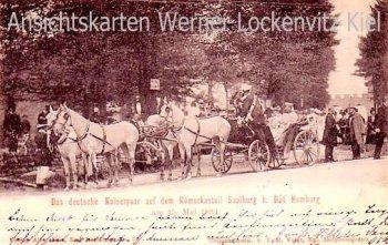 Alte Ansichtskarte Bad Homburg Das deutsche Kaiserpaar auf dem Römerkastell Saalburg Adel