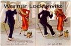 Ansichtskarte Dänemark Danmark Der gives i Livet visse Oejeblikke ... Dame mit Hund