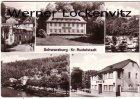 Ansichtskarte 07427 Schwarzburg Kreis Rudolstadt mehrfach Jugendherberge Ferienheim