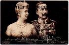 Ansichtskarte Adel Auguste Victoria und Wilhelm II Orden