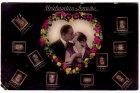 Ansichtskarte Briefmarken-Sprache Frauen Liebespaar Herz aus Rosen
