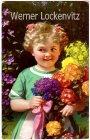 Ansichtskarte Kleines Mädchen mit Blumenstrauß