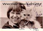 Ansichtskarte Autogrammkarte Schauspielerin Brigitte Mira mit Katze und Originalautogramm