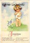 Ansichtskarte Sternzeichen Jungfrau kleines Mädchen