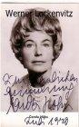 Ansichtskarte Autogrammkarte Schauspielerin Carola Höhn mit Originalautogramm