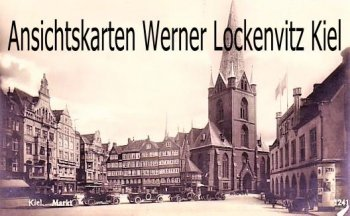 Ansichtskarte Kiel Markt Nikolaikirche Münchner Löwenbräu Taxen Litfaßsäule