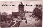 Ansichtskarte Lübeck Burgtor mit Schülern