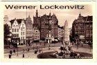 Alte Ansichtskarte Polen Danzig Gdańsk Holzmarkt mit Kriegerdenkmal und Apotheke zur Altstadt