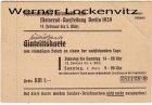 Berlin Internationale Automobil-und Motorrad-Ausstellung Eintrittskarte Werbung Dresdner Bank 1939