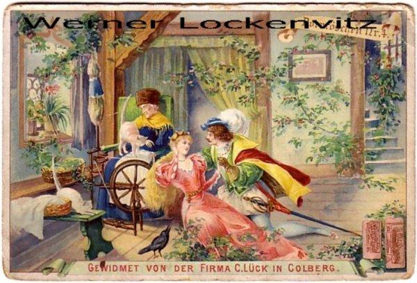 ansichtskarte polen märchen dornröschen werbekarte von fa