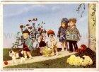 Ansichtskarte Käthe Kruse Puppen Papa und Mama mit ihren Kleinen 4 Käthe-Kruse Puppen