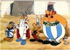 Ansichtskarte Comic Asterix und Obelix Nummerobix Miraculix und Idefix