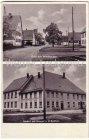Ansichtskarte Geislingen an der Steige-Waldhausen Straßenansicht und Gasthof und Brauerei zum schwarzen Ross Inh. H. Bantleon