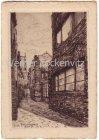 Alte Ansichtskarte Bremen Böttcherstrasse Radierung von Fritz Kück