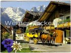 Ansichtskarte Garmisch-Partenkirchen Frühlingstraße mit Postkutsche