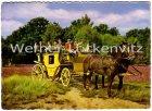 Ansichtskarte Mit der Postkutsche durch die Lüneburger Heide Abfahrt Hanstedt und in Hittfeld