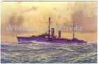 Alte Ansichtskarte Kreuzer Emden Gemälde von Rolf Schmidt-Hamburg Motive Kuenstler Schiffe Kriegsschiffe